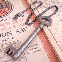 Skeleton Key Necklace Antique Vintage