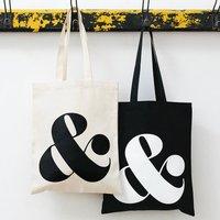 Ampersand Tote Bag, Black