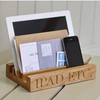 Oak Desk Tidy For iPad