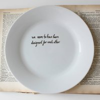 Personalised Pride And Prejudice Quote Plate