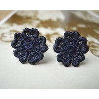 Lace Pansy Flower Studs