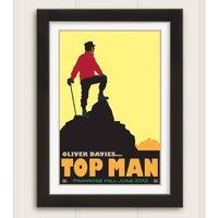Personalised Top Man Celebration Print, Yellow/Sky Blue/Blue