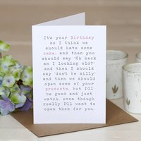 'Birthday Cake' Greetings Card