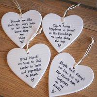 Porcelain Heart Hanging Decoration
