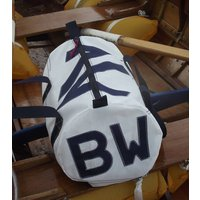 Personalised Seaview Sailcloth Kit Bags, Navy Blue/Navy/Blue