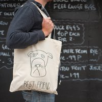 'Best Friend Forever?' Long Handle Tote Bag, Cream