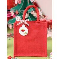 Jute Christmas Angel Or Bird Personalised Bag