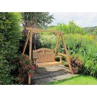 Tranquillity Oak Fan Back Swing Seat