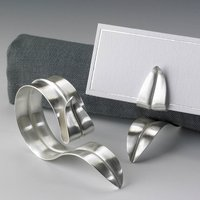 Handmade Silver Napkin Ring Placecard Holder