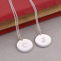 Silver Signature Pendant Necklace, Silver
