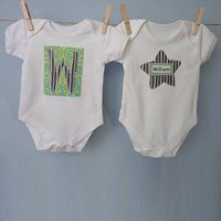 Set Of Two Personalised Baby Vests