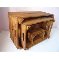 Vintage Style Nest Of Three Crates