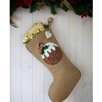 Personalised Vintage Style Pudding Stocking