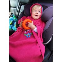 Hooded Poncho For Car Seats And Buggies, Pink/Red/Royal Blue
