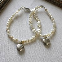 Girls Pearl Bracelet With Locket
