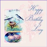 Vintage Birds Birthday Card