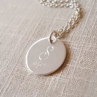 Sterling Silver Sister Necklace, Silver