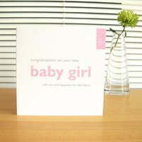 Personalised New Baby Girl Or Boy Cards