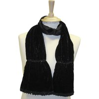 Sequin Velvet Scarf, Black