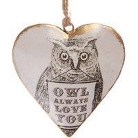 'Owl Always Love You' Heart Decoration