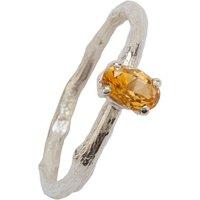 November Birthstone Silver And Citrine Ring, Silver