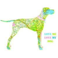 Personalised English Pointer Map Dog Print