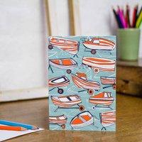 Boat Nostalgia Blank Greetings Card
