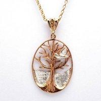 Tree Of Life With Dove Pendant