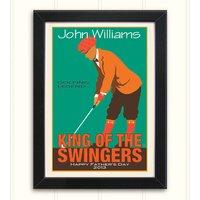 Personalised Men's Vintage Style Golf Print