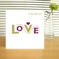 Personalised Valentine's Love Card