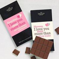 'I Love You More Than..' Chocolate Bar