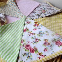 Spring Gingham And Floral Bunting