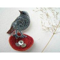 Redstart Nest Brooch