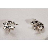 Silver Alligator Cufflinks, Silver