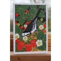 Pied Wagtail Card