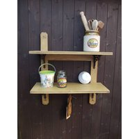Reclaimed Two Tier Kitchen Shelf
