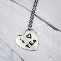 'I Love Tea' Heart Chain Necklace
