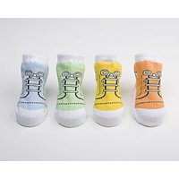 Set Of Four Pastel High Top Baby Socks