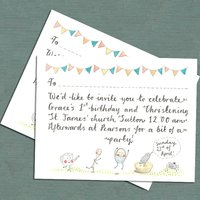 Whimsical Christening Invitation