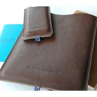 Classic Leather Sleeve For iPad, Purple/Sage/Green