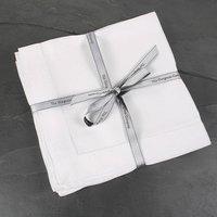 Pure White Linen Napkins Set Of Four, White/Linen