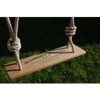 Personalised Handmade Rustic Oak Garden Swing
