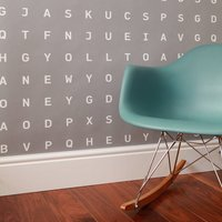 Personalised Word Search Wallpaper, Black/White/Grey