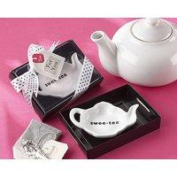 """Swee Tea"" Ceramic Tea Bag Caddy"