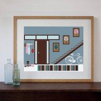 60s Hallway Interior Art Print