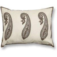 Kashmir Paisley Cushion Cover, Pink/Grey