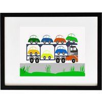 Lorry Loaded With New Cars Print