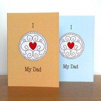 Jammy Dodger Biscuit Card For Dad's, Beige/Sea Green/Green