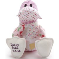 Personalised Baby Clothes Keepsake Duck