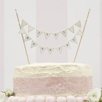 Ivory 'Just Married' Wedding Cake Bunting